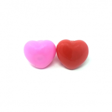 Pink and Red Heart Bumpy Glow in the Dark LED Glow Ring Flashing Jelly Rings LED Finger Lights for Kids Adults LED Light Up Toys Party Favours