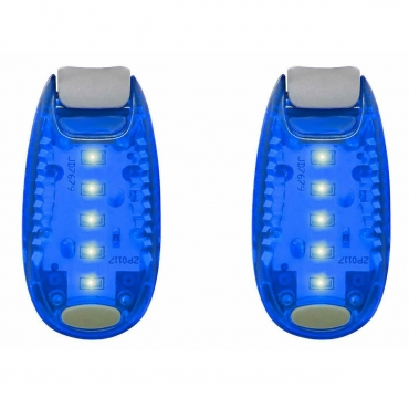 LED Safety Lights Clip On Flashing Strobe Light High Visibility for Running Jogging Walking Cycling for Kids Dog Bicycle Bike Lights Helmet Light Tail Light Hi Vis Armbands Running-2 Pack of Blue Lights