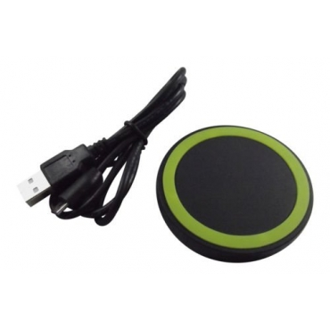 Ultra Green Wireless QI Charger Pad NFC Mini Portable Fast Charging Circle For Mobile Phones Tablets USB Port Compatible with Android iOs