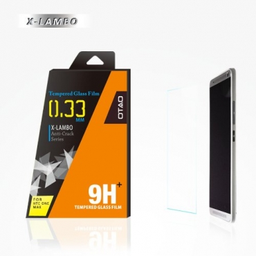 OTAO Premium Clear HTC One Max Tempered Glass Screen Protector 0.3ml X Lambo Highest Level Protection 9H Pro