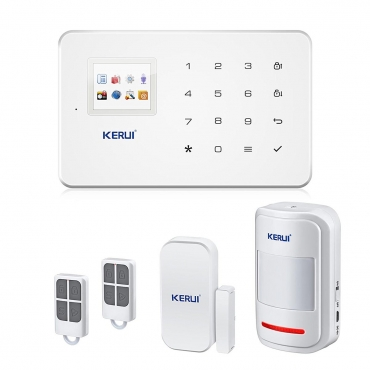 Secrui KRW18 Wireless GSM & Wifi Smart House Commercial Alarm System Controllable By iOS Android Apps & Key Fobs Burglar SMS Auto Dial & Siren 433MhZ