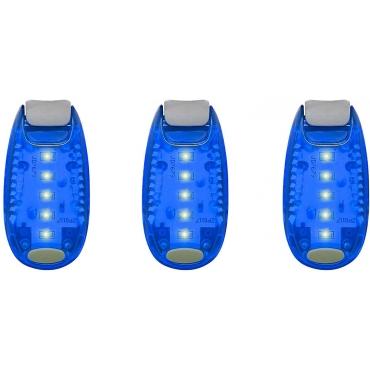 Ultra LED Safety Lights Clip On Flashing Strobe Light High Visibility for Running Jogging Walking Cycling for Kids Dog Bicycle Bike Lights Helmet Light Hi Vis Armbands Running-3 Blue