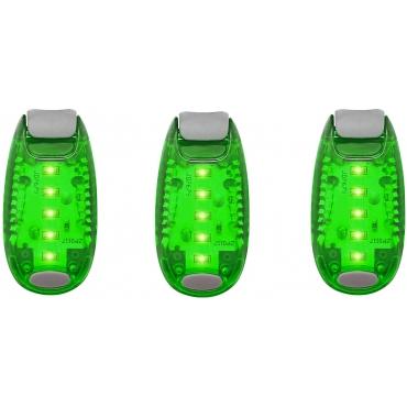 Ultra LED Safety Lights Clip On Flashing Strobe Light High Visibility for Running Jogging Walking Cycling for Kids Dog Bicycle Bike Lights Helmet Light Hi Vis Armbands Running-3 Green