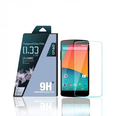 OTAO Premium Clear LG Nexus 5 Tempered Glass Screen Protector 0.3ml X Lambo Highest Level Protection 9H Pro