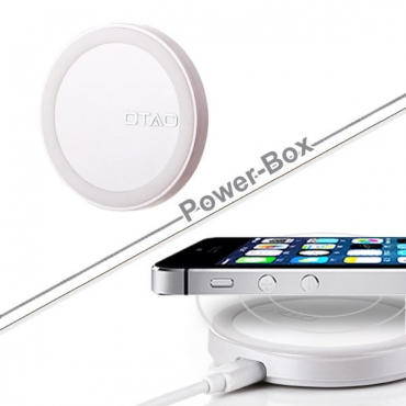 OTAO White 0.98cm Thinnest in the World QI Charger Pad for Samsung HTC Iphones LG +
