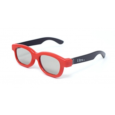 1 to 5 Pairs of Red and Black Childrens Passive 3D Glasses for Kids Universal for Passive TVs Cinema and Projectors Such as RealD