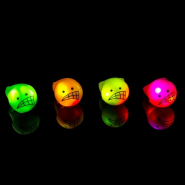 Scorn Face Glow in the Dark LED Glow Ring Flashing Jelly Rings LED Finger Lights for Kids Adults LED Party Favours Toy Ring Light Up Rings Rave