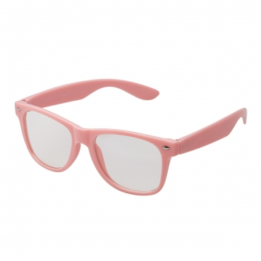Ultra Pink Adults Classic Costume Glasses with Clear Lenses Retro Design For Men Women For Fancy Dress Geek Look Cosplay Hipsters World Book Day