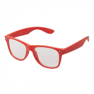 Ultra Red Adults Classic Costume Glasses with Clear Lenses Retro Design For Men Women For Fancy Dress Geek Look Cosplay Hipsters World Book Day