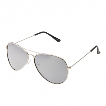 Ultra Silver with Silver Mirrored Lenses Adult Pilot Style Sunglasses Men Women Classic Vintage Retro Glasses UV400 Metal Shades Eyewear