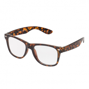 Ultra Tiger Leopard Print Adults Classic Costume Glasses with Clear Lenses Retro Design For Men Women For Fancy Dress Geek Look Cosplay Hipsters World Book Day
