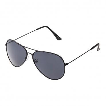 Ultra Adult Pilot Style Sunglasses Black Frame with Black Lenses Mens Womens Classic Vintage Retro Glasses UV400 Metal Navigators