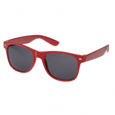 Ultra Adults Retro Classic Style Sunglasses Red Frame Black Lenses UV400 Protection Rimmed Eyewear Mens Womens Unisex Shades