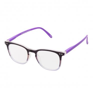 Black and Purple Adults Anti Blue Light Blocking Glasses Mens Womens Anti UV Eye Strain Fatigue Computer Reading Gaming Clear Lenses Eyewear