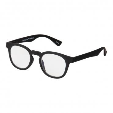 Black Oval Horn Rimmed Adults Anti Blue Light Blocking Glasses Mens Womens Anti UV Eye Strain Fatigue Computer Reading Gaming Clear Lenses Eyewear
