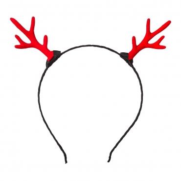 Antler Headband Christmas Antlers Headband Christmas Hats Novelty Deer Antler Head Band For Adults or Children Xmas Headbands Reindeer Ears