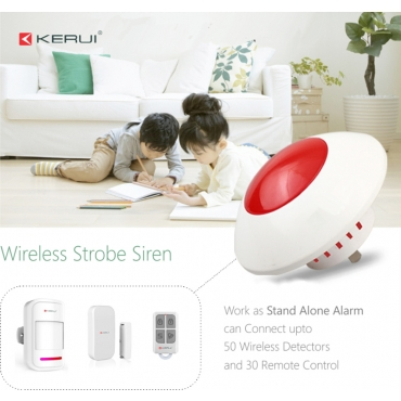 Ultra ® edition KERUI Security Store Alarm system Wireless Indoor Strobe Siren with backup battery