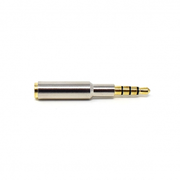 Ultra Male to Female 45mm 4 Pole 3.5mm Silver Plated Gold Plated Metal Headphone Jack for iPhone Tablets Speakers Microphone and Card Readers