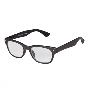 Ultra Adults Black Classic Frame Reading Glasses Dioptre Transparent Lightweight Womens Mens Reading Glasses Non-Prescription Lenses Foldable
