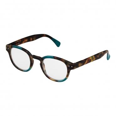 Ultra Aqua Multi Tortoiseshell Frame Reading Glasses Dioptre Transparent Glasses Lightweight Comfortable Womens Mens Reading Glasses Non-Prescription Lenses Designer Style Foldable Eye Glasses