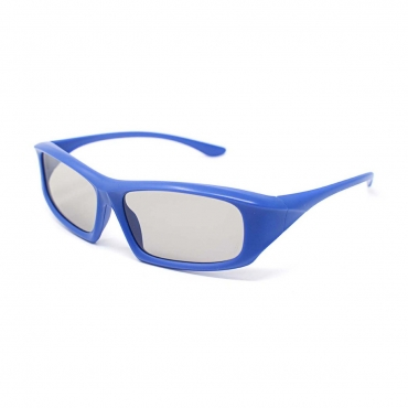 Packs of 1 to 5 Blue Adults Passive 3D Glasses in a wraparound style for Passive TVs Cinema and Projectors such as RealD Toshiba LG Panasonic