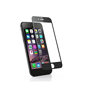 """Ultra Black Tempered Glass Screen Protector for Apple Iphone 6 6s 4.7"""" Round Edge Premium Coloured 0.3ml Tempered Glass Highest Protection 9H Pro"""