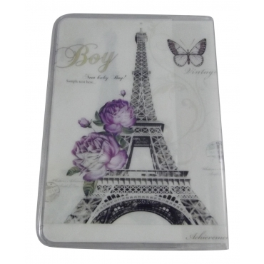 Eiffel Tower statue Travel Passport Card Holder Pouch Cover Artistic Print Passport Holder Cover For Men and For Women Thin Slim Holder