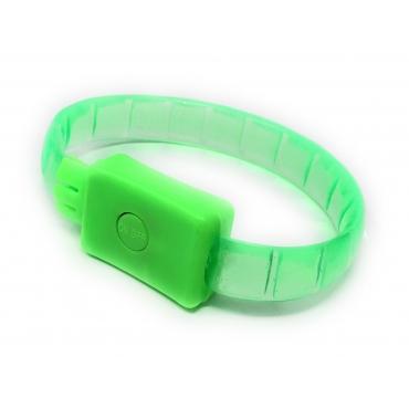 2 - 96 Green LED Bracelets Light Up Flashing Adult Kids Adjustable 3 Modes Party