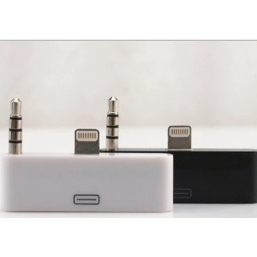 """Ultra Audio 30 pin to 8 Pin Adapter Compatible with Lightening Connections Audio Adapter in Black or White for Iphone 6 6s 4.7"""" and Iphone 6 Plus 6s Plus 5.5"""" Mobile phones and devices"""