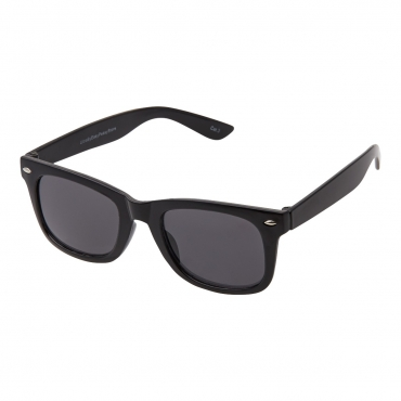 Ultra Adults Retro Classic Style Sunglasses Black Frame Black Lenses UV400 Protection Rimmed Eyewear Mens Womens Unisex Shades
