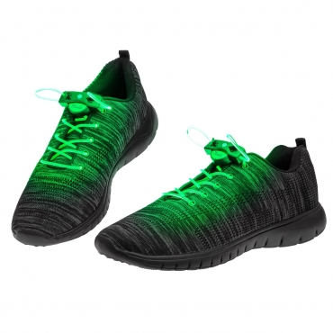 Green LED Shoelaces Light Up Shoe Laces Flashing LED DIsco Light Laces Fibre Glow in the Dark Laces Night Safety Festival Hip Hop Shoes