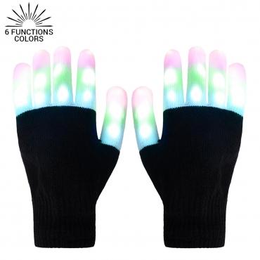 Ultra LED Gloves Light Up Gloves Adults Childrens LED Gloves 6 Settings 3 Colours Fingertip Flashing Gloves Light Up LED Gloves Disco Lights