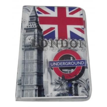 London Underground Travel Passport Card Holder Pouch Cover Artistic Print Passport Holder Cover For Men and For Women Thin Slim Holder Passport Holder Novelty Design