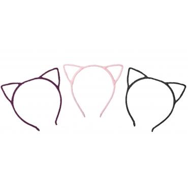 2 Purple 2 Black 2 Pink Cat Ear Head Band Cat Headbands For Women Adults or Children Cute Animal Ears Black Leopard Ears Cat Headbands Ears