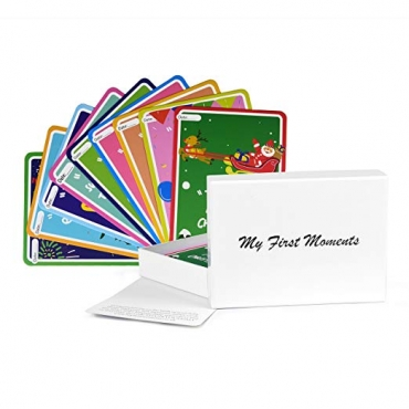 38 Baby Event Cards My First Moments Landmarks Cards for Girls and Boys Illustrated Cute Week Month Cards and Keepsake Box for Baby Showers Gift