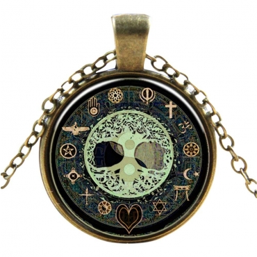 Mystical Symbol Style Steampunk Necklaces Classic Cyber Punk Victorian Mens Womens Jewellery Chain and Pendant Copper Vintage Cosplay