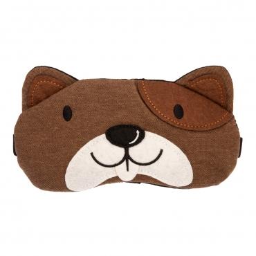 Plush Dog Plush Sleep Eye Masks Animal Mask Detachable Reusable Ice Pack Hot Cold Gel Compress for Tired Puffy Eyes Travel Sleeping Men Women Children