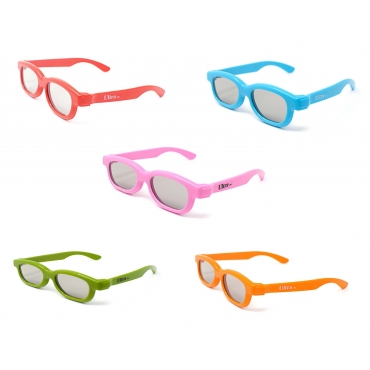 Mixed Pack of 5 pairs of 3D Glasses for Children Kids Polorized for RealD Cinema and TV Use