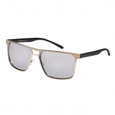 Adults Mens Sunglasses Silver and Black Frame with Silver Mirrored Lenses Composite Lightweight Alloy UV400 Classic Eyewear Glasses Driving Running