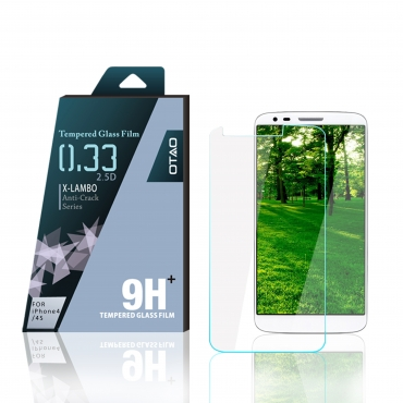 OTAO Premium LG G2 Tempered Glass Screen Protector Curved edge 2.5D Premium Clear 0.3ml X Lambo Highest Level Protection 9H Pro