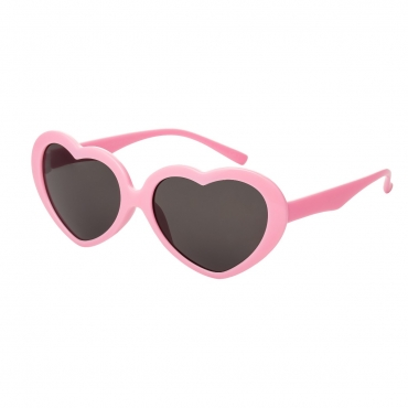 Pink Childrens Heart Shaped Classic Sunglasses Girls UV400 Protection UVA UVB Retro Frames Style Love Kids Cute Lolita Glasses Fashion Shades Suitable for Ages 3 to 10 Years
