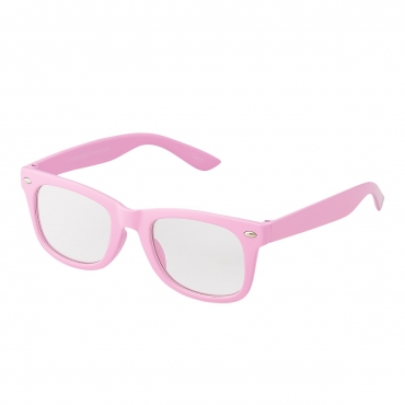 Pink Childrens Costume Glasses Classic Clear Lens Frames Boys Girls Kids Fancy Dress World Book Day Geek Hipsters Nerds Look Style Parties Gift