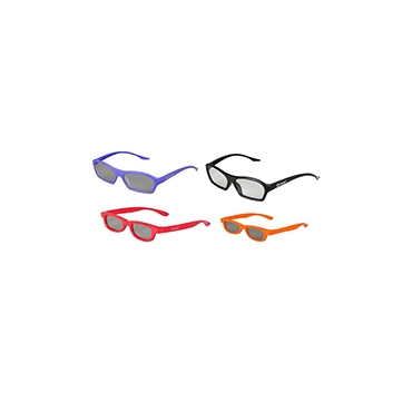 Family Pack 2 Adults 2 Childrens Passive 3D Glasses for TV Men Women Polarized For Use with RealD Movies Cinemas TVs and Projectors 3D Cinema