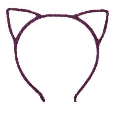 Purple Fuzzy Cat Ear Head Band Cat Headbands For Women Adults or Children Cute Animal Ears Black Leopard Ears Cat Headbands Ears