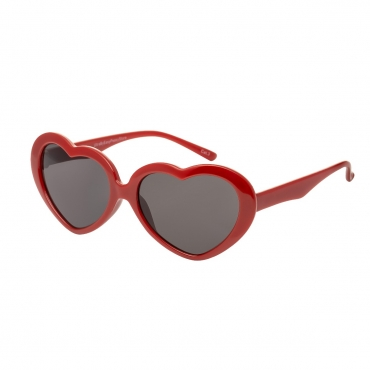 Red Childrens Heart Shaped Classic Sunglasses Girls UV400 Protection UVA UVB Retro Frames Style Love Kids Cute Lolita Glasses Fashion Shades Suitable for Ages 3 to 10 years