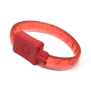 2 - 96 Red LED Bracelets Light Up Flashing Adults Kids Adjustable 3 Modes Party