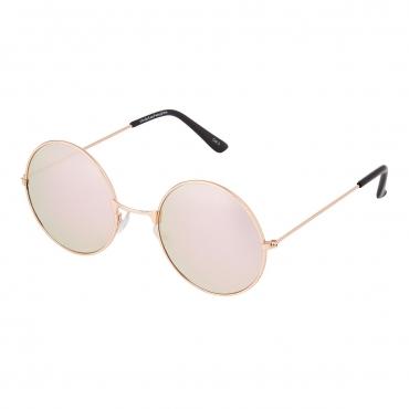 Ultra Rose Gold Frame with Rose Gold Lenses Adults Retro Round Large John Lennon Style Sunglasses Classic Mens Womens Vintage Retro UV400 Glasses