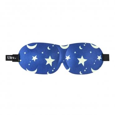 Ultra Moon and Stars 3D Soft Contoured Light Blocking Eye Masks Blackout Men Women Children Travel Sleep Blindfold Comfortable Design Adjustable Sleeping