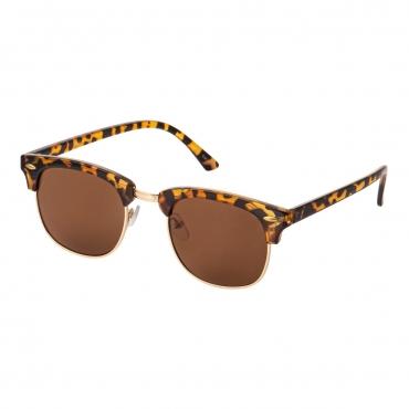 Ultra Adults Tortoise Frame Half Rimmed Classic Mens Womens Sunglasses Retro UV400 Rimmed Fashion Glasses Shades Eyewear Rivet Horn Rimmed Unisex