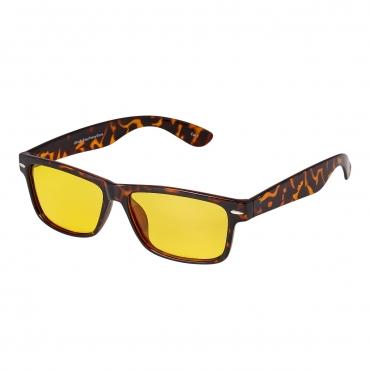 Ultra Tortoise Shell Classic Style Large Over Glasses Night Driving Glasses Men's and Women's Polarised Sunglasses Anti Glare Amber Lens UV400 Polarized Sunglasses Yellow Tinted Glasses Anti Glare Dazzle Golf Sailing